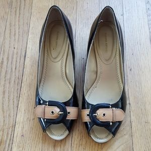 Banana Republic peep-toe wedge shoes 7.5